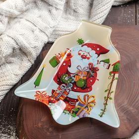 Блюдо сервировочное Доляна «Колокольчик. Дари подарки», 18×17×1,5 см