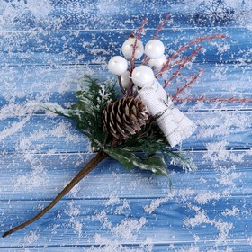 """Decor """"Winter glow"""" 20cm pinecone berries leaves"""
