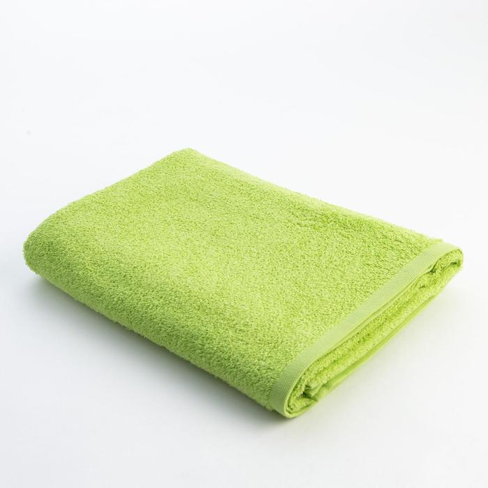 Полотенце махровое «Экономь и Я», размер 70х130 см, цвет ярко зелёный - фото 798267882