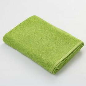 Полотенце махровое Экономь и Я 50х90 см, цв. ярко-зелёный, 320 г/м²