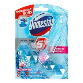 Блок для очищения унитаза Domestos Power 5+ «Магнолия», 53 г