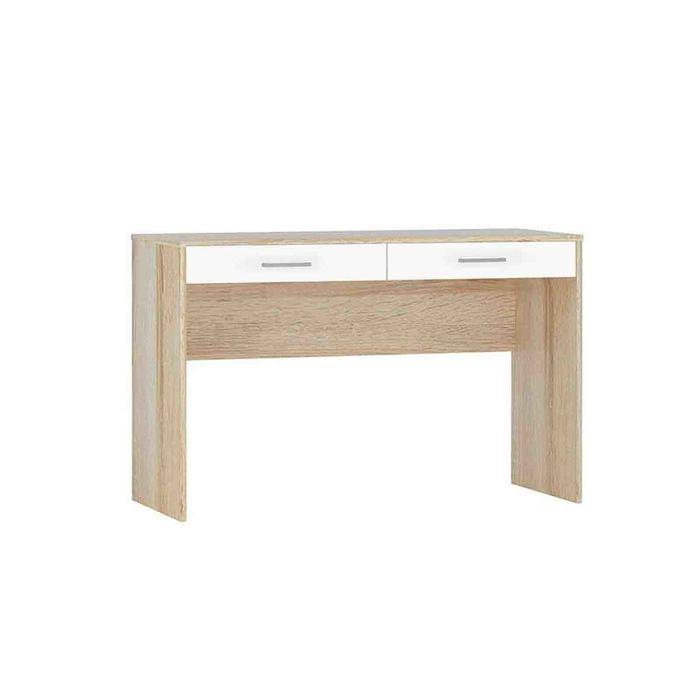 Стол письменный «Стелс 120», 2 ящика, 1200 × 500 × 750 мм, цвет дуб сонома / белый