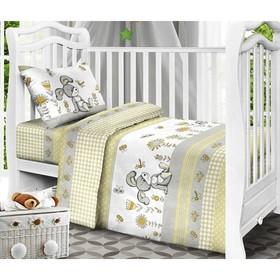 Детское постельное бельё «Кролик», цвет жёлтый, 112х147см, 110х150см, 40х60 см 1 шт