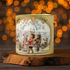"""Подарочная коробка, тубус """"Рождественские колокольчики малая"""", 12 х 12 см"""