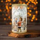 """Подарочная коробка, тубус """"Рождественские колокольчики"""", 12 х 22 см"""