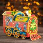 """Подарочная коробка """"Паровозик"""", красный, 26 х 11,5 х 20 см"""