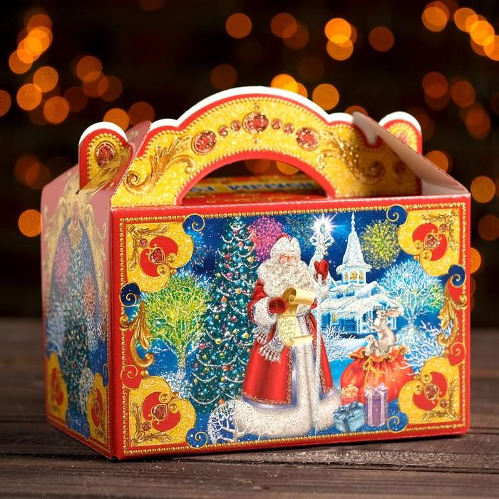 "Подарочная коробка ""Резиденция Деда Мороза"", 20 х 12 х 19 см"