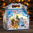 """Подарочная коробка """"Праздничный в синем"""", с анимацией, 20,5 х 12,3 х 22 см"""