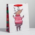 Пакет крафтовый вертикальный «Веселья!», MS 18 × 23 × 8 см