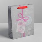 Пакет крафтовый вертикальный «Много хорошего в Новом году», ML 23 × 27 × 8 см