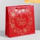 Пакет ламинированный квадратный «С Новым Годом!», 30 х 30 х 12см