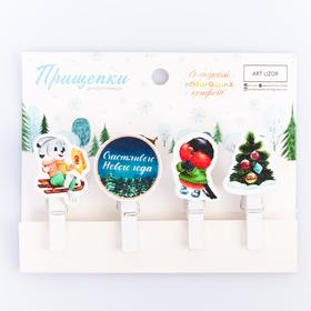 Набор декоративных прищепок «Со вкусом новогодних конфет», 12 × 9.7 см