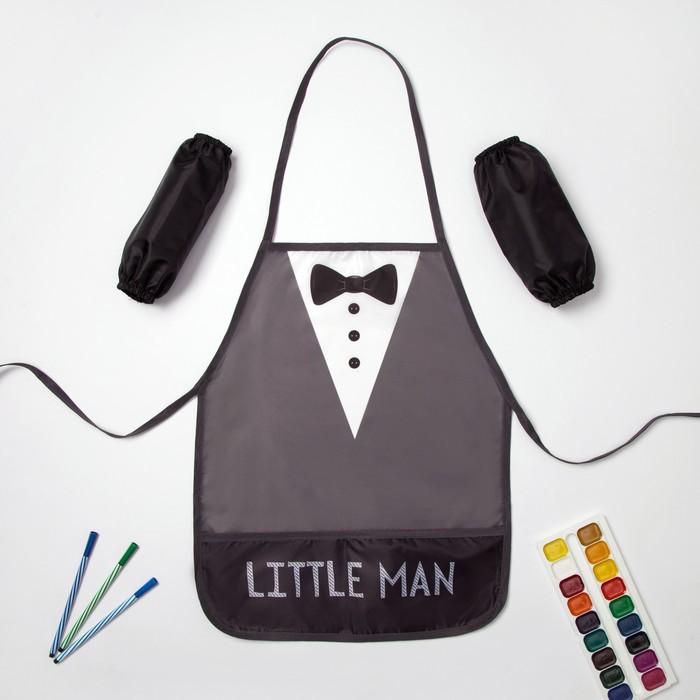 """Набор детский для творчества Collorista """"Little man"""" фартук 49 х 39 см и нарукавники"""