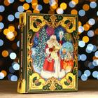 """Подарочная коробка """"Резиденция Деда Мороза"""", с анимацией, 19 x 7 x 25 см"""