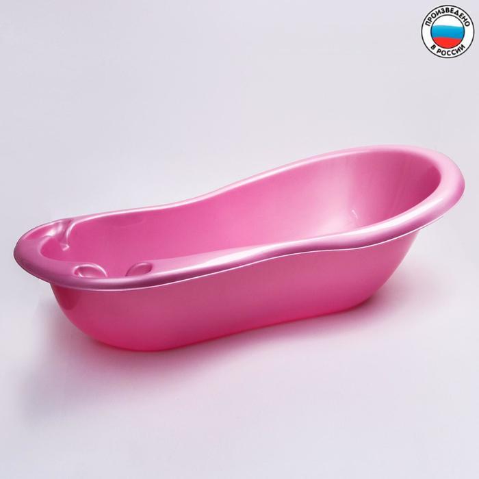 Ванночка для купания с картинками,цвет розовый - фото 961730