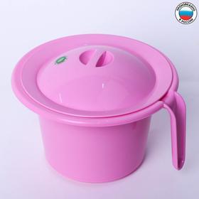 """Горшок детский """"Кроха"""" с крышкой, цвет розовый, 1850 мл"""