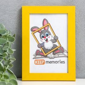 Фоторамка МДФ 10х15 см, №6 желтый