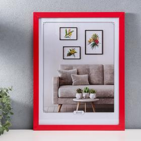 MDF photo frame 30x40 cm, No. 6, width 18 mm, thickness 12 mm, red
