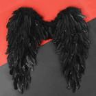 Крылья ангела, 60х57, цвет чёрный