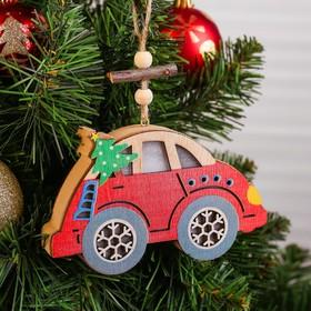 Декор с подсветкой «Машинка с ёлочкой»