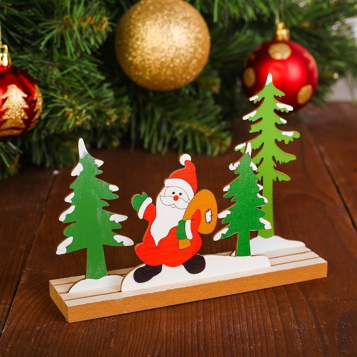 Декор «Дед мороз в лесу»