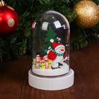 Декор с подсветкой «Снеговик»