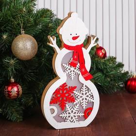 Декор с подсветкой «Большой снеговик»
