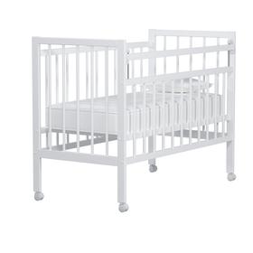 Кровать детская «Колибри-Мини» на колёсах, цвет белый