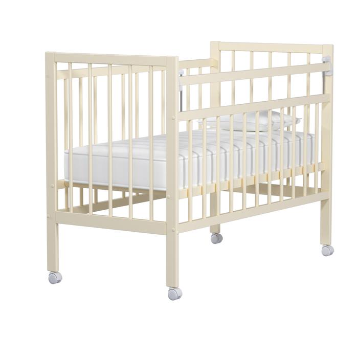 Кровать детская «Колибри-Мини» на колёсах, цвет слоновая кость