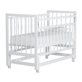 Кровать детская «Колибри-Мини» маятник продольный, цвет белый
