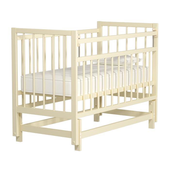 Кровать детская «Колибри-Мини» маятник продольный, цвет слоновая кость