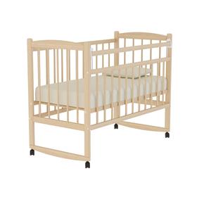 Кровать детская «Колибри» на колёсах или качалке, цвет натуральный