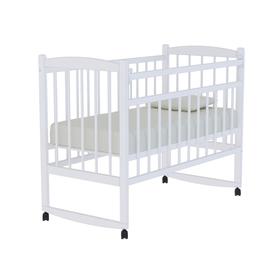 Кровать детская «Колибри» на колёсах или качалке, цвет белый