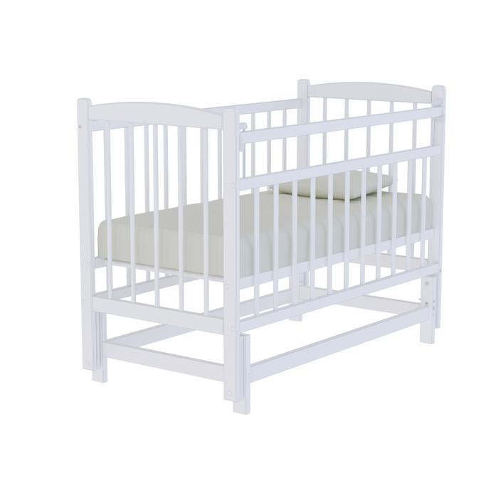 Кровать детская «Колибри» маятник поперечный, цвет белый
