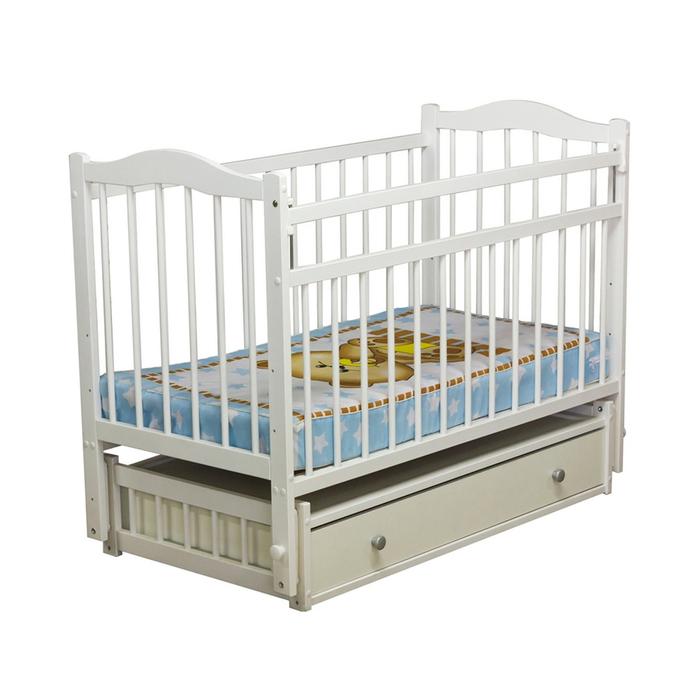 Кровать детская «Колибри 6», цвет белый