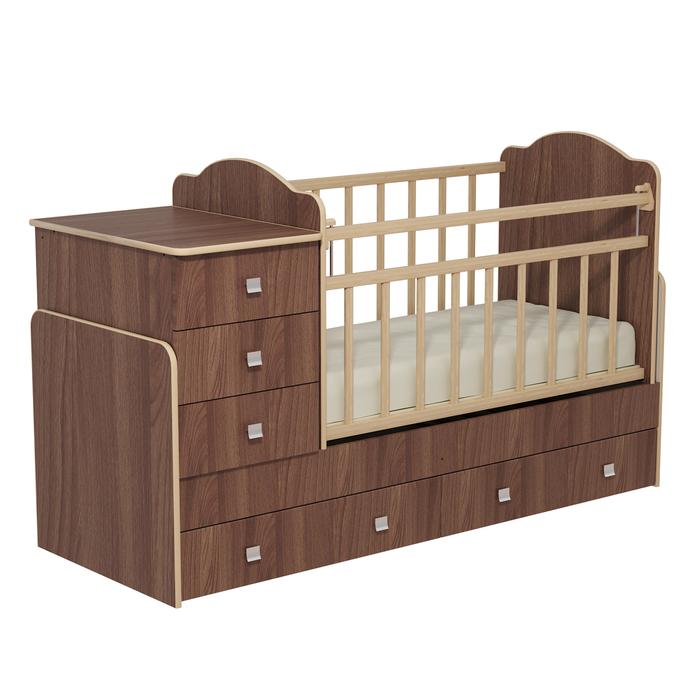 Кровать детская с комодом и ящиками «Колибри», цвет ясень