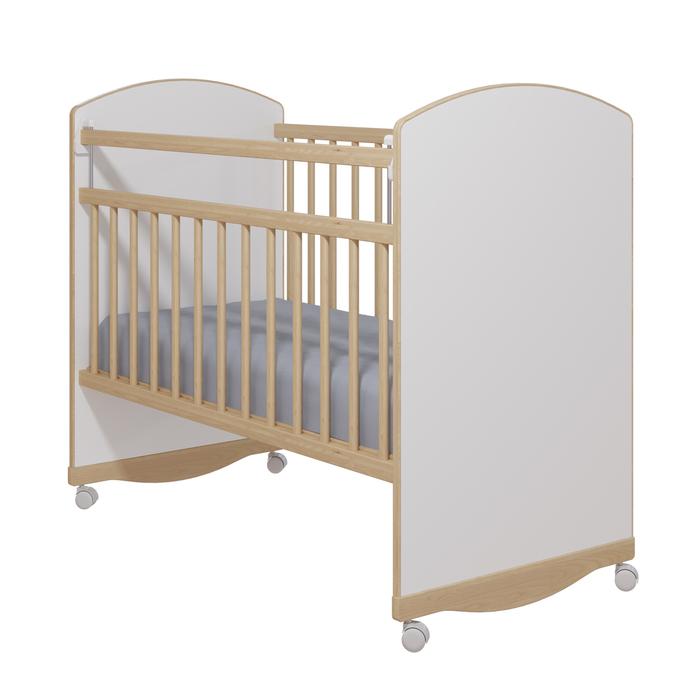 Кровать детская «Колибри-Классик 3», цвет белый, решетки берёза