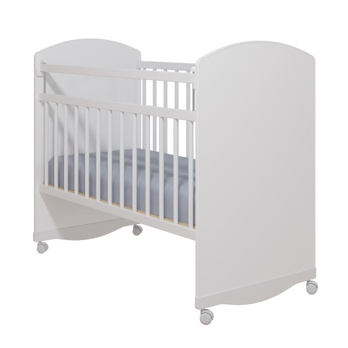 Кровать детская «Колибри-Классик 3», цвет белый, решетки белые