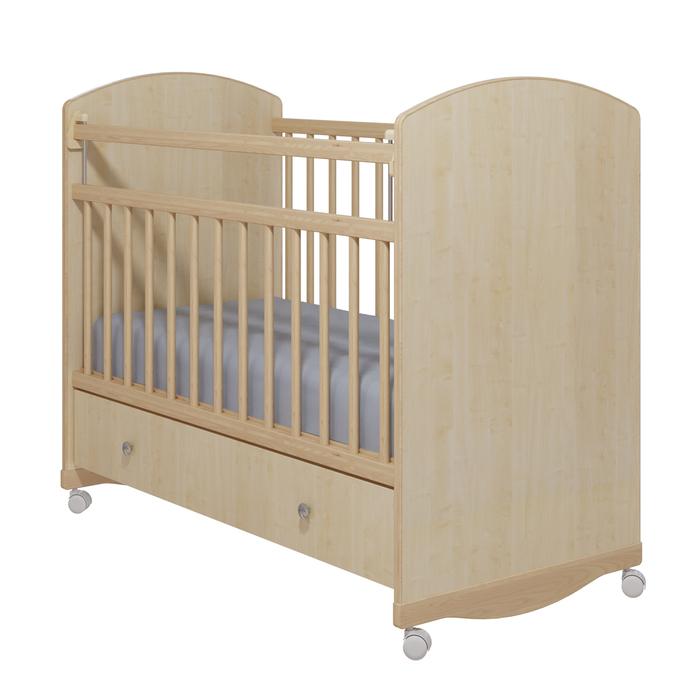 Кровать детская «Колибри-Классик 3» с ящиком, цвет клён