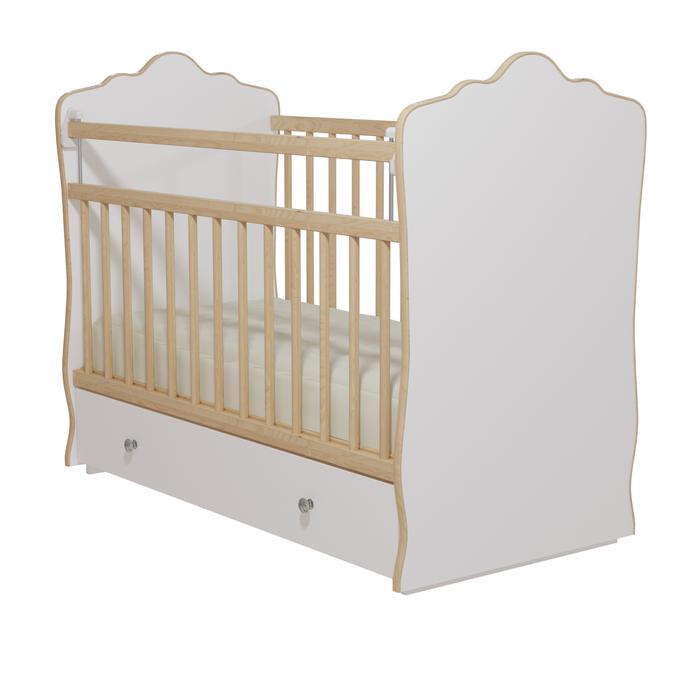 Кровать детская «Колибри-Велла 5», цвет белый, решетки берёза