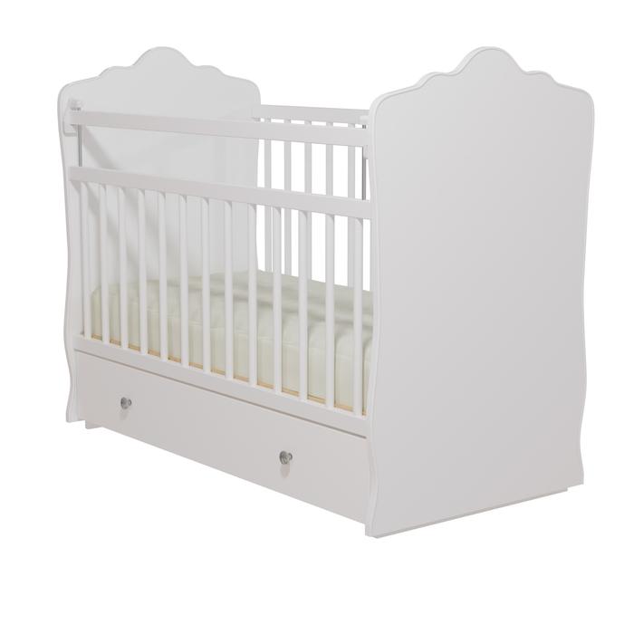 Кровать детская «Колибри-Велла 5», цвет белый, решетки белые