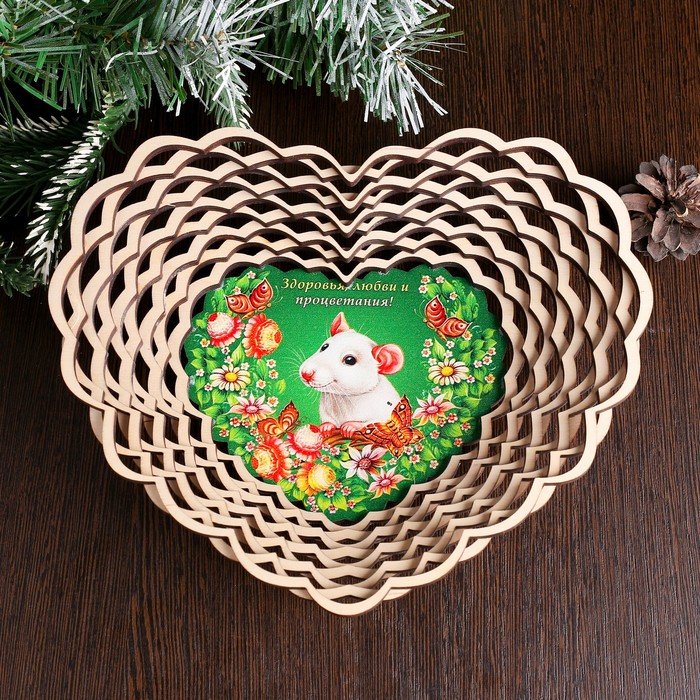 Сухарница «Крыска», счастья, цветы и бабочки, 20×18×4 см