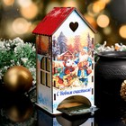 Чайный домик  «Дед Мороз с мышкой», с новым счастьем, 9,5×9,5×20 см