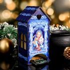 Чайный домик  «Снегурочка с мышкой», желаем счастья, 9,5×9,5×20 см