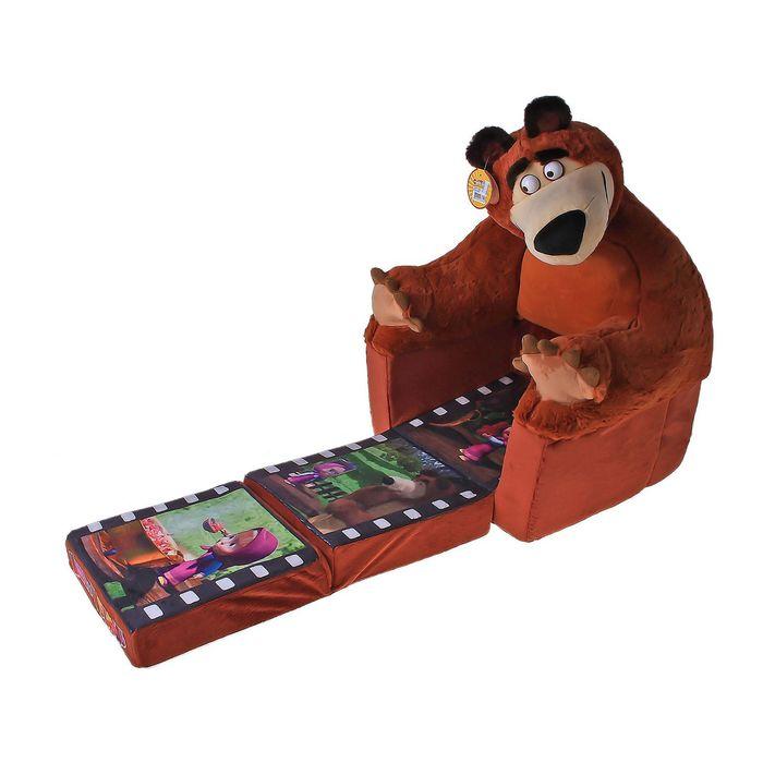 """Мягкая игрушка """" Кресло-кровать Маша и Медведь"""""""