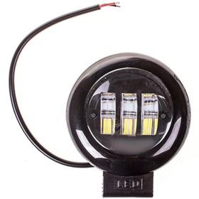 Фара светодиодная OFF ROAD 115*160 мм, круглая, 12В/24В, 30Вт, 6000K, Skyway, 3 диода, Дальний свет S08401038