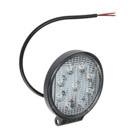 LED headlight OFF ROAD 115 mm, round, 12V / 24V, 27W, 6000K, Skyway, 9 diodes, High beam