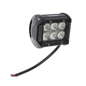 Headlight LED OFF ROAD 93 * 70 mm, rectangular, 12V / 24V, 18W, Skyway, 6 diodes, low beam