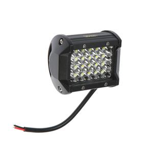 LED headlight OFF ROAD 95 * 75 mm, rectangular, 12V / 24V, 72W, Skyway, 24 diodes, low beam