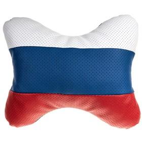 Подушка автомобильная, для шеи, Skyway кожа иск. Россия